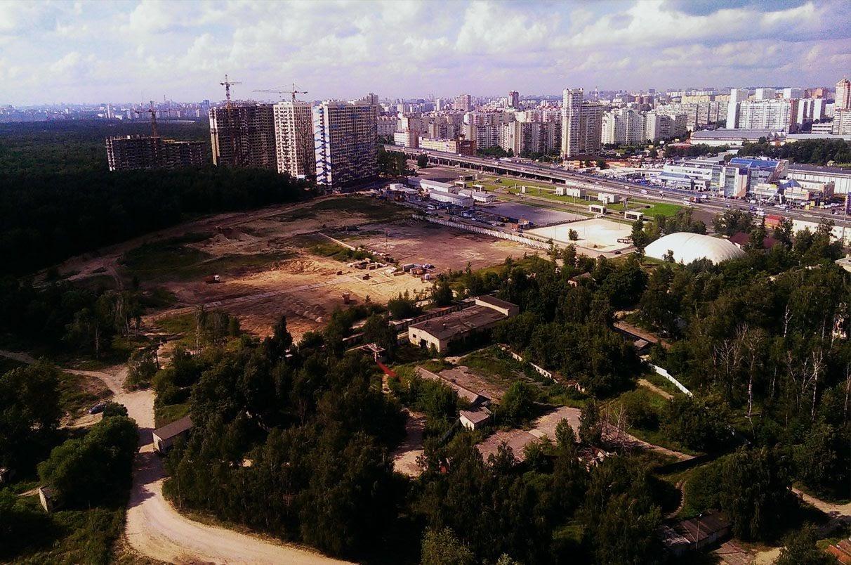 """Фото до начала строительства в 2015 г. ЖК """"Оранж Парк"""""""