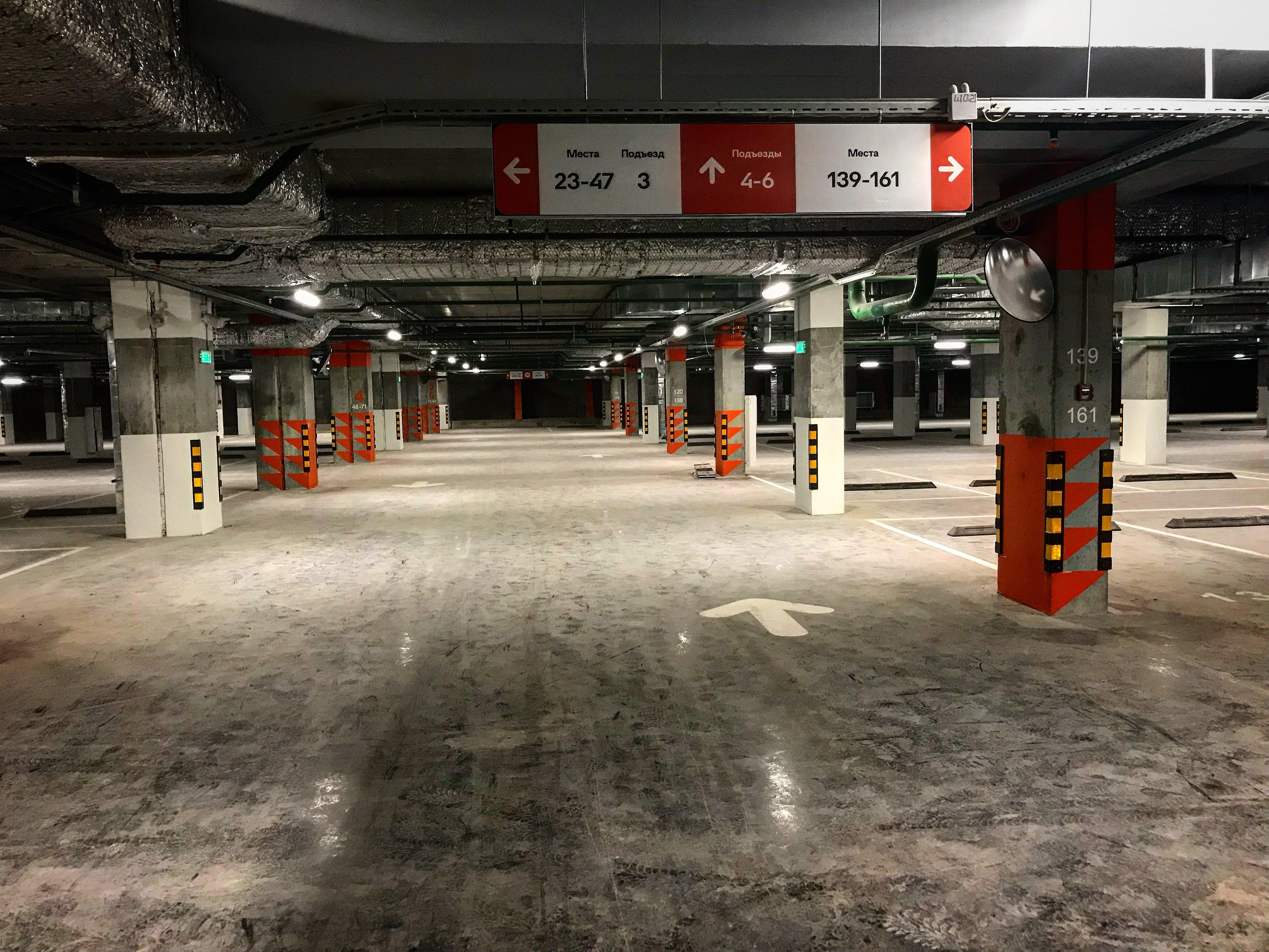 """Подземный паркинг ЖК """"Оранж Парк"""""""