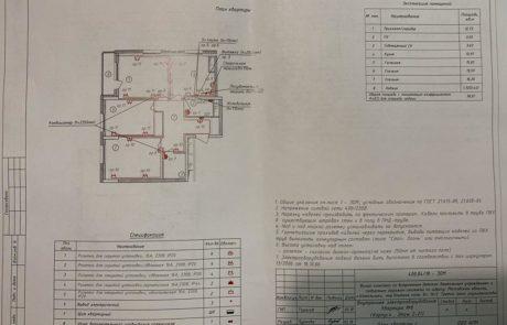 4 корпус 3-к.кв. План электрооборудования (силовые сети)