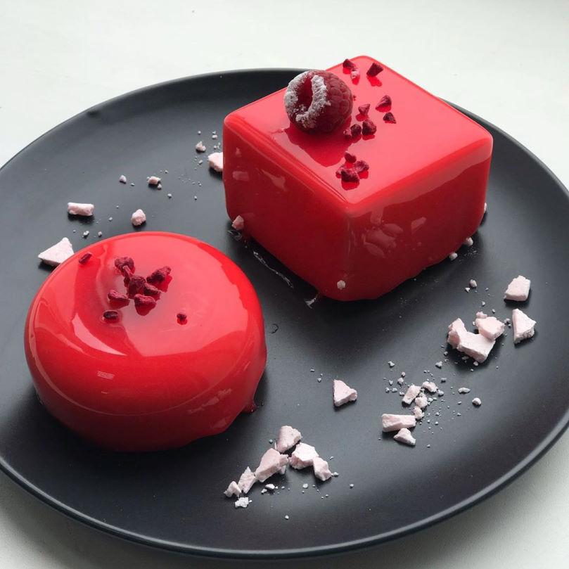 Малиново-ванильный десерт