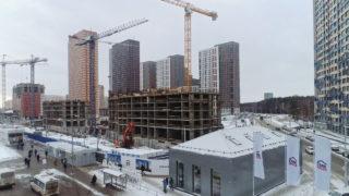 Видео строительства ЖК Оранж Парк от 13.02.2020
