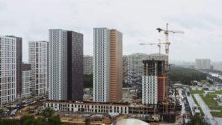 Видео строительства ЖК Оранж Парк от 08.06.2020