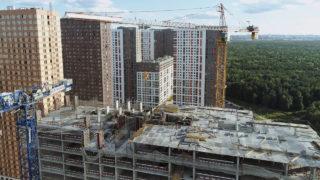 Видео строительства ЖК Оранж Парк от 25.07.2020