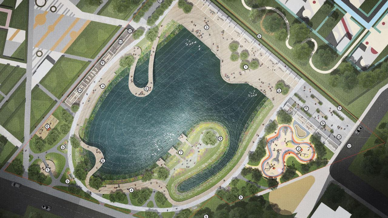 Проект благоустройства пруда 2020 Опытное поле Котельники