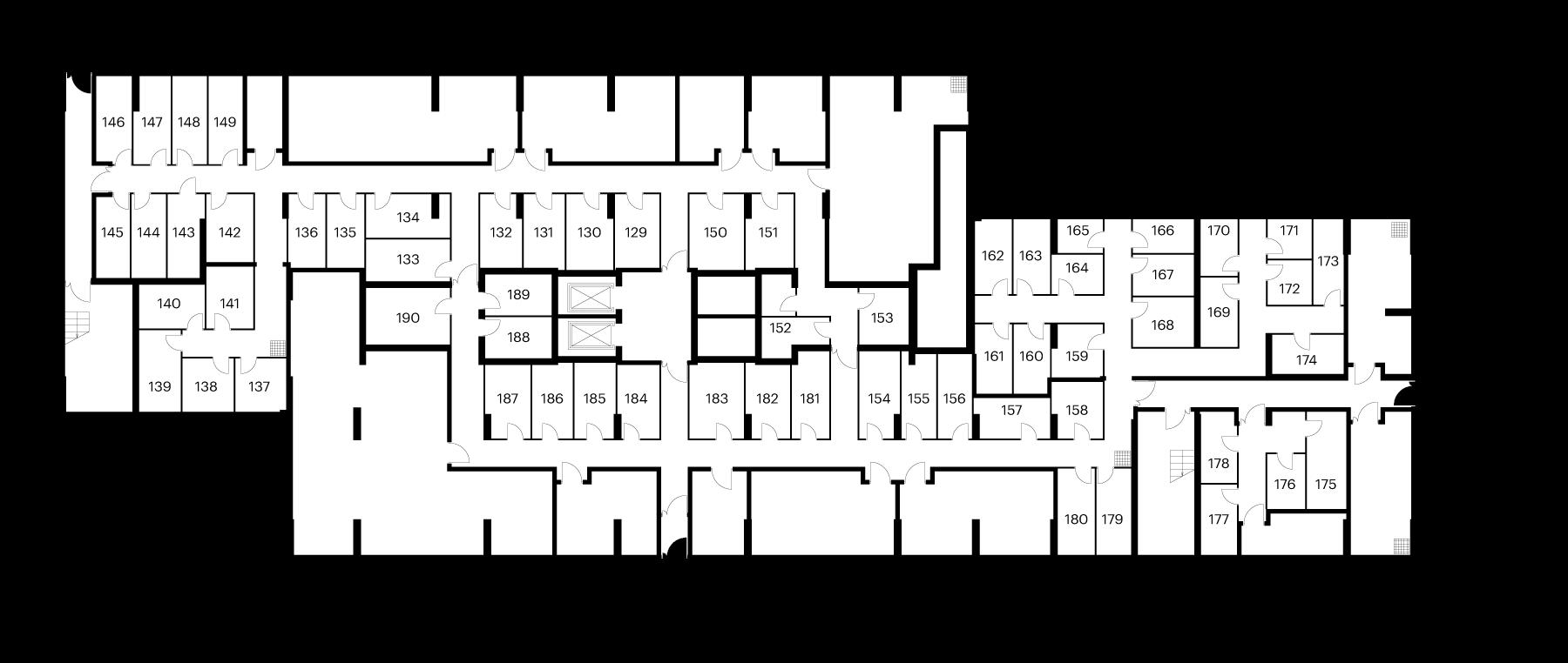 Кладовые помещения в 10 корпусе