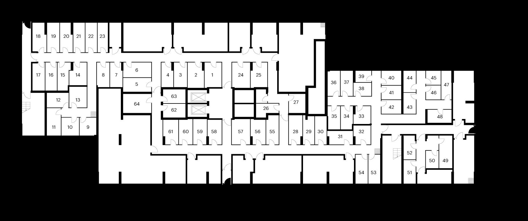 Кладовые помещения в 8 корпусе
