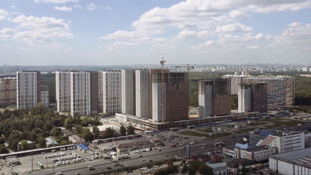Видео строительства ЖК Оранж Парк от 21.08.2020