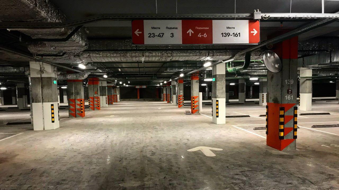 Подземный паркинг Оранж Парк