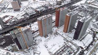 """Видео строительства 6, 7, 8, 9, 10 корпусов ЖК """"Оранж Парк"""" от 22 ноября 2020 г."""