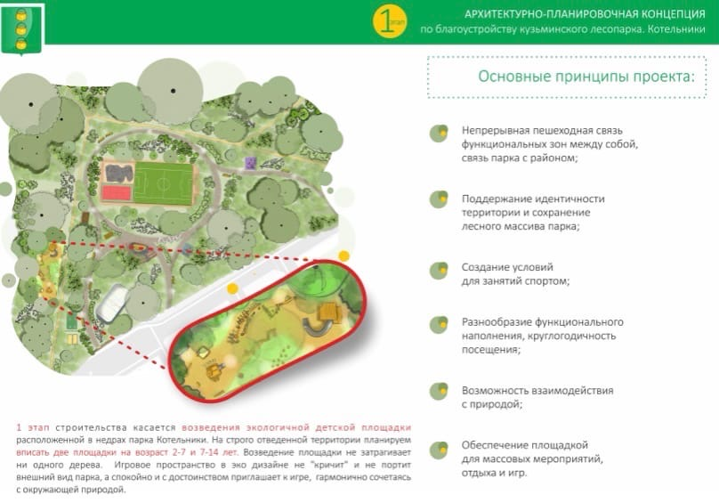 Благоустройство Кузьминского Лесопарка