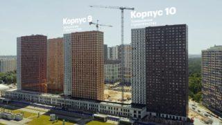 Видео строительства ЖК Оранж Парк от 18 июня 2021 г