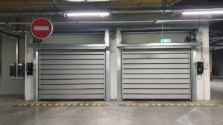 Ворота подземного паркинга